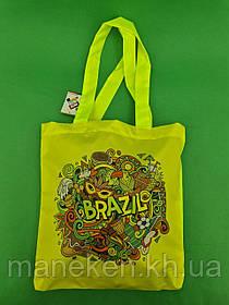 Сумка шопер Brazil 40x35 см ручка 60 см (1 шт)