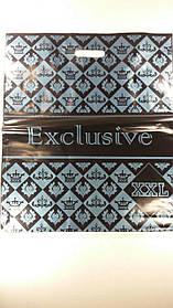 """Пакет з прорізною ручкою (45*53+3)""""Ексклюзив XXL""""Леомі (50 шт)"""