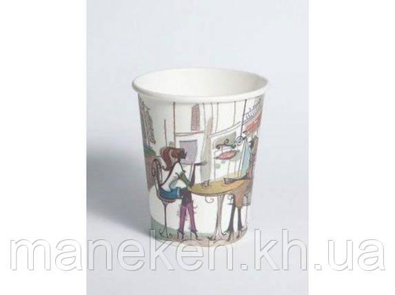 Стакан бумажный для кофе и чая вендинговый 175мл №11 Дама в кафе Маэстро (50 шт), фото 2