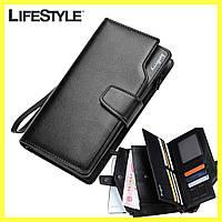 Кожаный мужской кошелек Baellerry Business + Наушники Apple, фото 1
