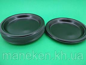 Тарілка одноразова пластикова 220 mm Чорна (25 шт)