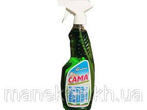Средство моющее  для стекла и зеркал САМА яблоко 500г (курок) (1 шт)
