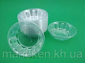 Одноразова креманка пластикова прозора (100 шт)