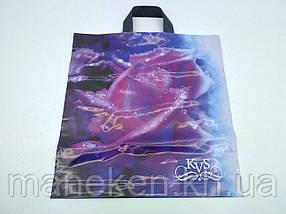 """Пакет ламінований з петлевою ручкою середній """"Троянда """"(40х42) KVS (50 шт)"""
