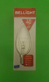 """Лампа свічка прозора """"BELLIGHT"""" 40W E14 в індивідуальній упаковці (1 шт)"""