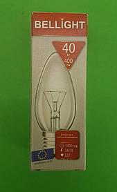 """Лампа свічка прозора """"BELLIGHT"""" 40W E27 в індивідуальній упаковці (1 шт)"""