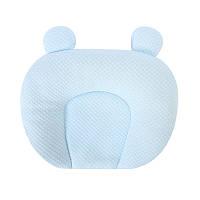 Детская хлопковая ортопедическая подушка Lovely Baby U1 Light Blue с наполнителем из гречневой шелухи