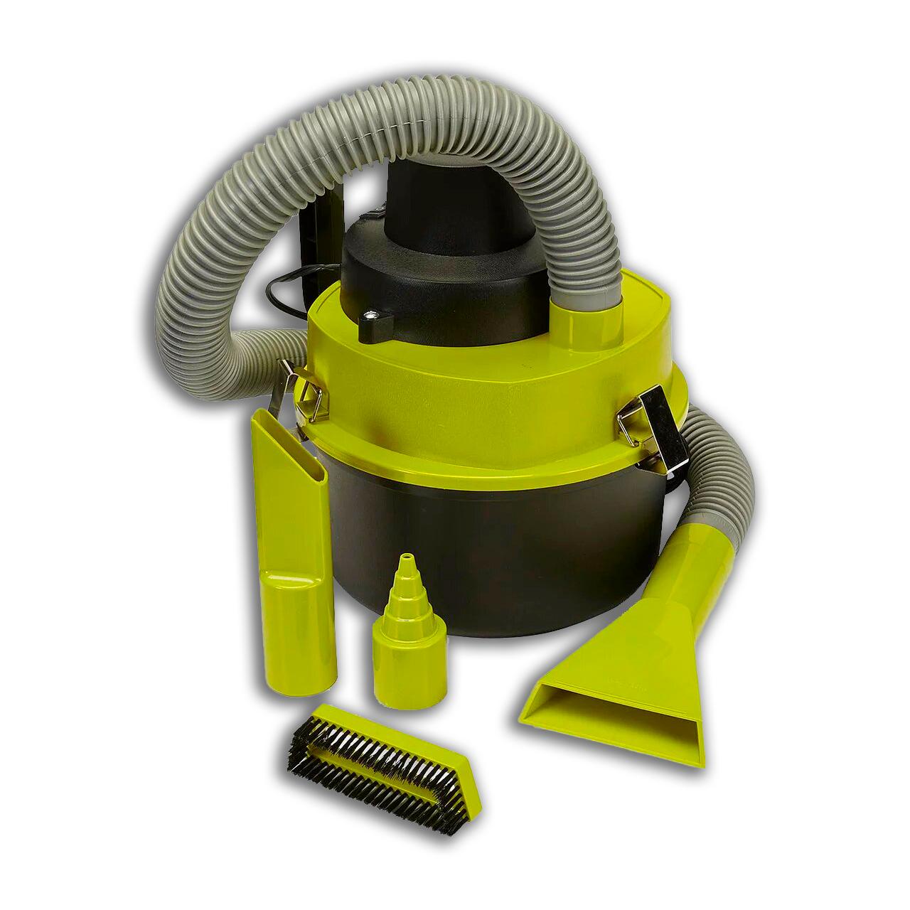 Автомобильный пылесос для сухой и влажной уборки The Blac Series, 3 насадки, зеленый