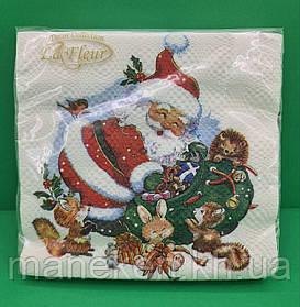 Праздничная салфетка (ЗЗхЗЗ, 20шт)  La FleurНГ Время для подарков(314) (1 пач)
