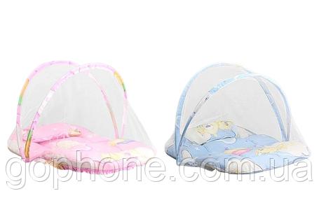 Переносная детская кроватка-палатка с москитной сеткой (new babybed), фото 2