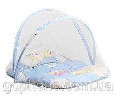 Переносная детская кроватка-палатка с москитной сеткой (new babybed), фото 3