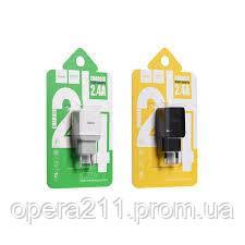 Сетевое зарядное и кабель Lightning Hoco C22A Little Superior 1USB 2.4A (EU) White