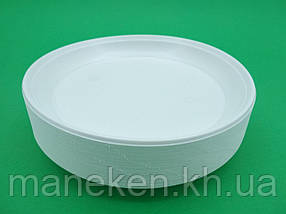 Одноразова тарілка для другої страви діаметр 205мм Еко (100 шт)