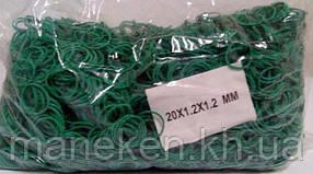 "Резинки для купюр №20 ( зеленая )*1,5мм  1 кг ""Plast"" (1 пач)"