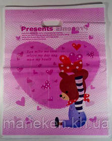 Пакет с вырубной ручкой Подарочный (35*45) №12 китай (100шт) (1 пач)