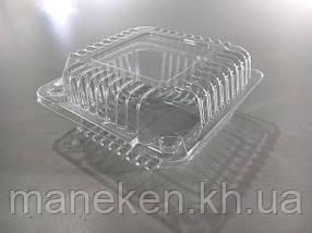 Контейнер пластиковий з відкидною кришкою V500 млл SL9-1 119*119*25*35 (50 шт)