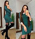 """Молодіжне коротке плаття в клітку з комірцем """"Лайза"""", фото 6"""