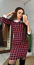 """Молодіжне коротке плаття в клітку з комірцем """"Лайза"""", фото 5"""