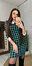 """Молодіжне коротке плаття в клітку з комірцем """"Лайза"""", фото 4"""
