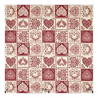 Ткань хлопок Испания с рисунком сердце