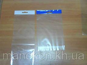Пакет прозорий поліпропіленовий + скотчк 12*22+4\25мк +скотч(+еврослот3,5) (1000 шт)