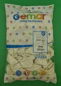 """Воздушные шары пастель белый 10"""" (25 см) Gemar 100 шт (1 шт)"""