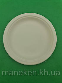 Тарілка паперова 180мм біла (50 шт)