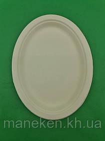 Тарілка паперова 260*200 біла (50 шт)