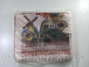 """Пакети """"майка""""(28+2*7,5х49) із зображенням """"Соняшник"""" (100 шт)"""
