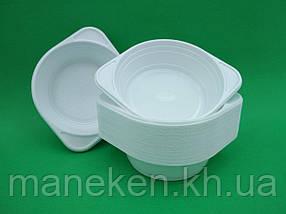 Одноразова тарілка для перших страв об'єм 500мл Супер (100 шт)