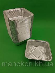 Контейнер з харчової алюмінієвої фольги прямокутний 850мл SP84L 100шт/уп (1 пач.)