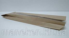 Пакет паперовий з ПП вікном 12/5*41 коричневий (1000 шт)