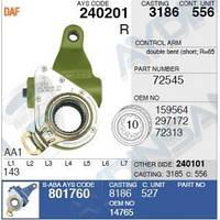 Рычаг тормозной автоматический DAF 0159564 задн.прав. 72545 DAF XF 95, XF 105, 75 CF, 85 CF, 95 XF, 95 XF, фото 1