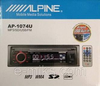 Магнитола MP3 ALPINE 1074, USB, SD, AUX