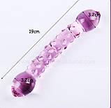 Фалос стеклянный двойной Pink Extasy, фото 4