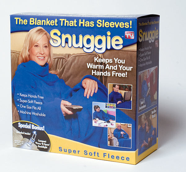Плед, одеяло с рукавами SNUGGIE, плед халат, плед флисовый