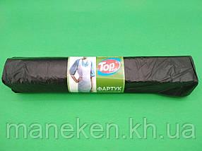 Одноразовий фартух поліетиленовий 75/120/ а50 чорний (1 пач.)