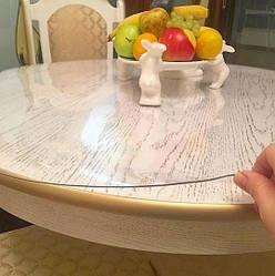 Силіконова скатертину М'яке скло Soft Glass Покриття для меблів 1.0х1.4м (товщина 0.4 мм) Прозора