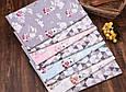 Сатин (хлопковая ткань) зайчики на качелях (серый фон) (40*160), фото 4