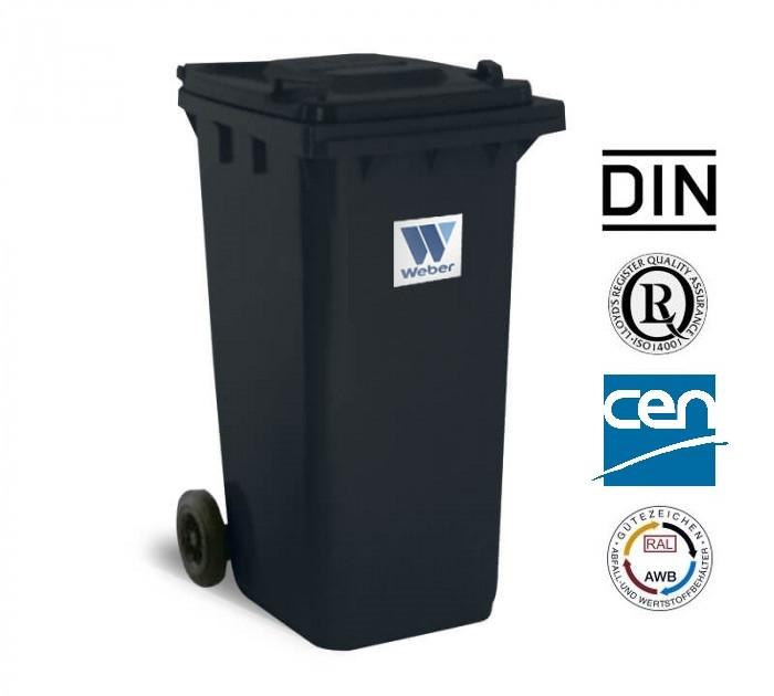 Євроконтейнер пластиковий, Weber V-120 л, чорний