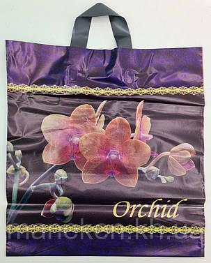 """Пакет с петлевой ручкой ср п """"Орхидея""""(38х42+3) 90мк ДПА (50 шт), фото 2"""