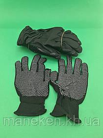 Господарські рукавички Нейлонові з микроточкой (12 пар)
