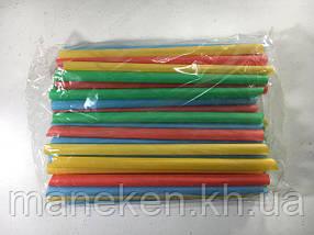 Трубочка для коктейлей  d9-19см  микс  (100 шт)