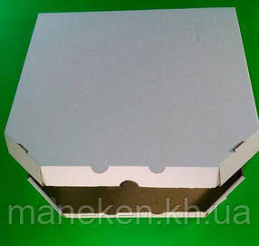 Коробка для пиццы 32 см бурая 320х320х40 мм (100 шт)
