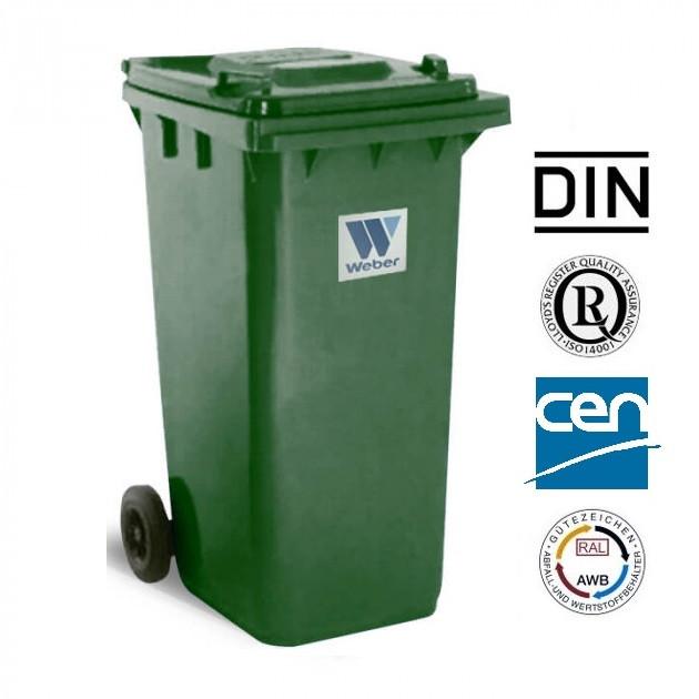 Євроконтейнер пластиковий, Weber V-120 л, зелений