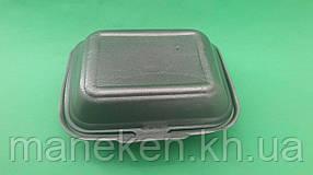 Ланч-бокс з спіненого полістиролу з кришкою (190*150*60) Чорний HP-9 (250 шт)