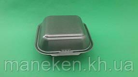 Ланч-бокс з спіненого полістиролу з кришкою (150*152*60) Чорний HP-6 (250 шт)