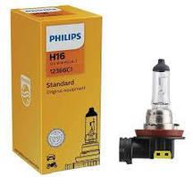 Лампа фары H16 12V 19W PGJ19-3 STANDARD 3200K (Philips)