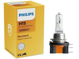 Лампа фари H15 55/15W 12V PGJ23T-1 (Philips)