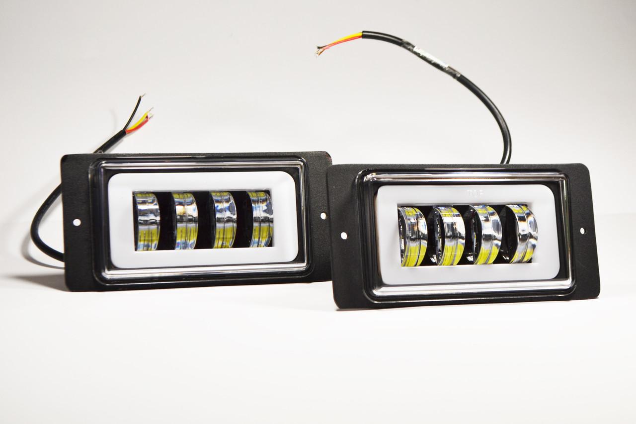 Додаткова світлодіодна LED фара( На ваз 2110,2115 ) Чіткої світловий тіньової кордоном
